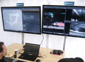 Centrum sterowania znajdujące się napowierzchni – totu przekazywane były wszystkie informacje natemat tego, co dzieje się zciężarówką (fot.Volvo Trucks)