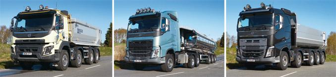 Oferta Volvo Trucks dla branży budowlanej niekończy się namodelach gamy ciężkiej (odlewej): FMX, FH iFH16 (fot.Volvo Trucks)