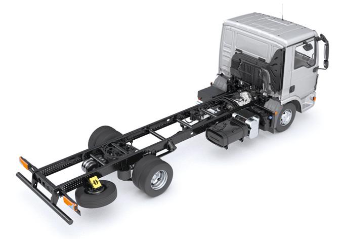 Ramowa konstrukcja podwozia zapewnia trwałość iwytrzymałość (fot.MAN)